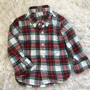 Baby Gap Holiday Flannel boys 18-24mos